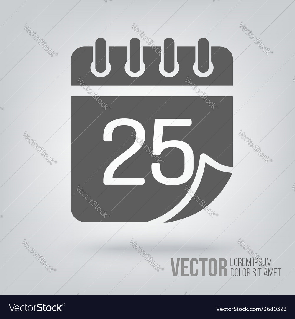 Calendar icon isolated black on white background vector