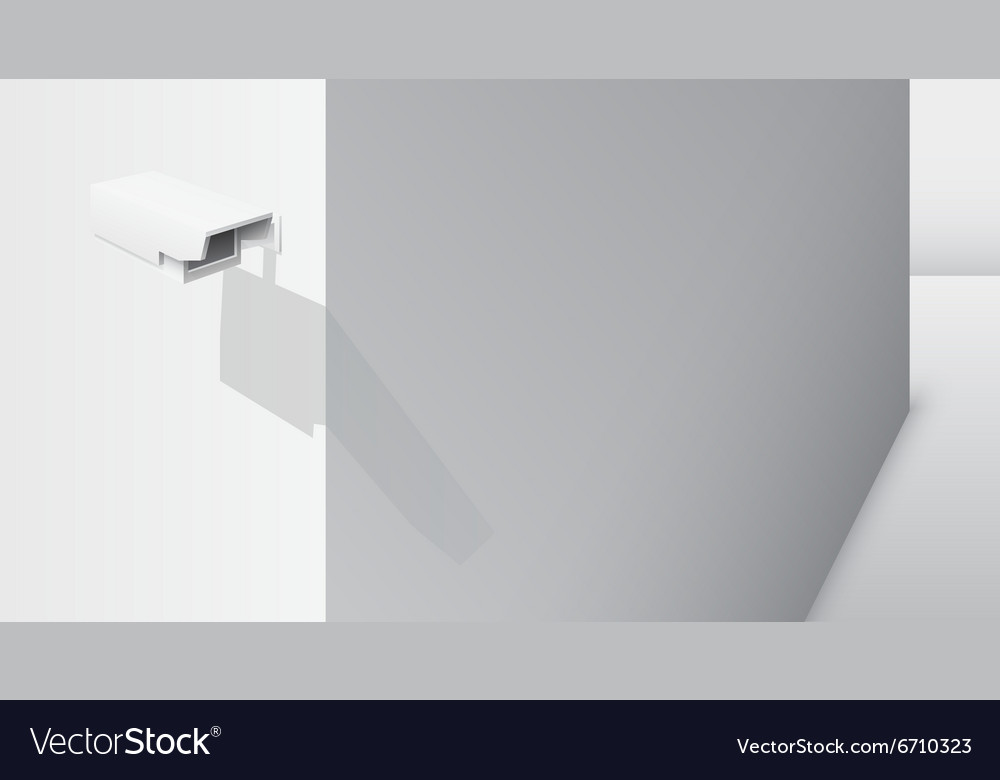 Cctv camera on the corner vector