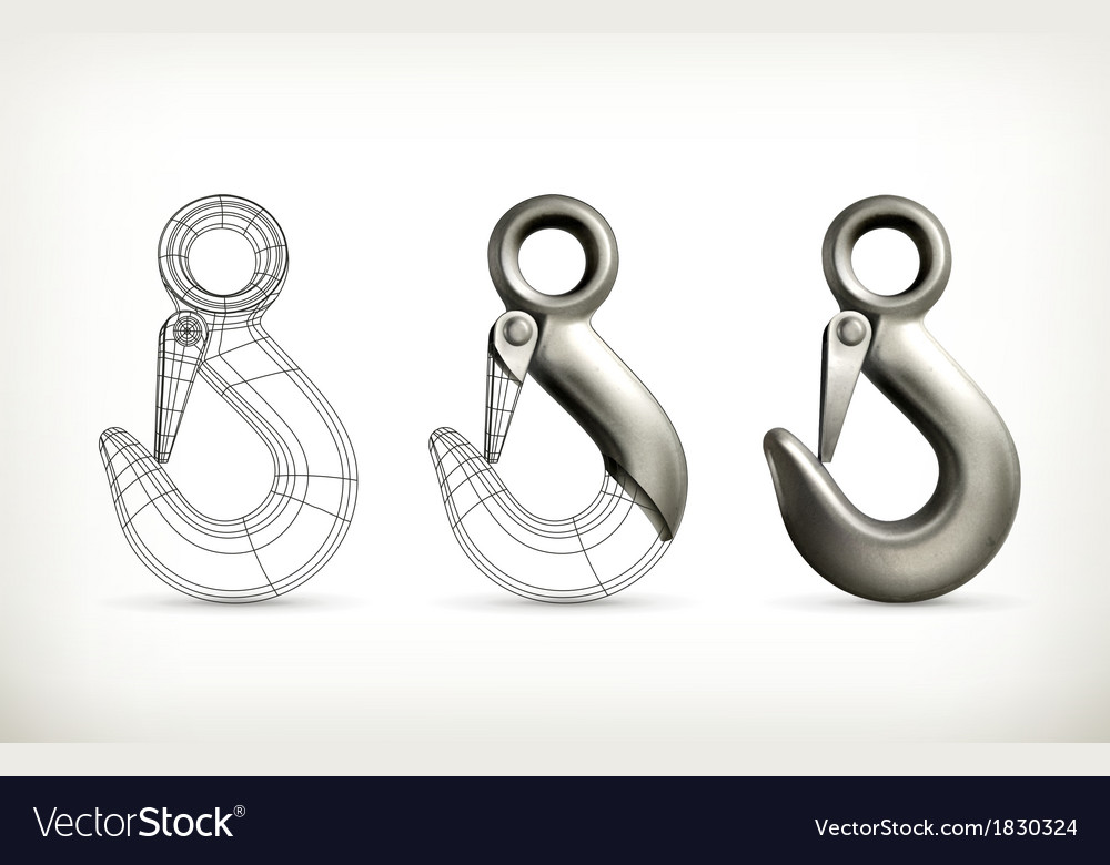 Lifting hook drawing vector