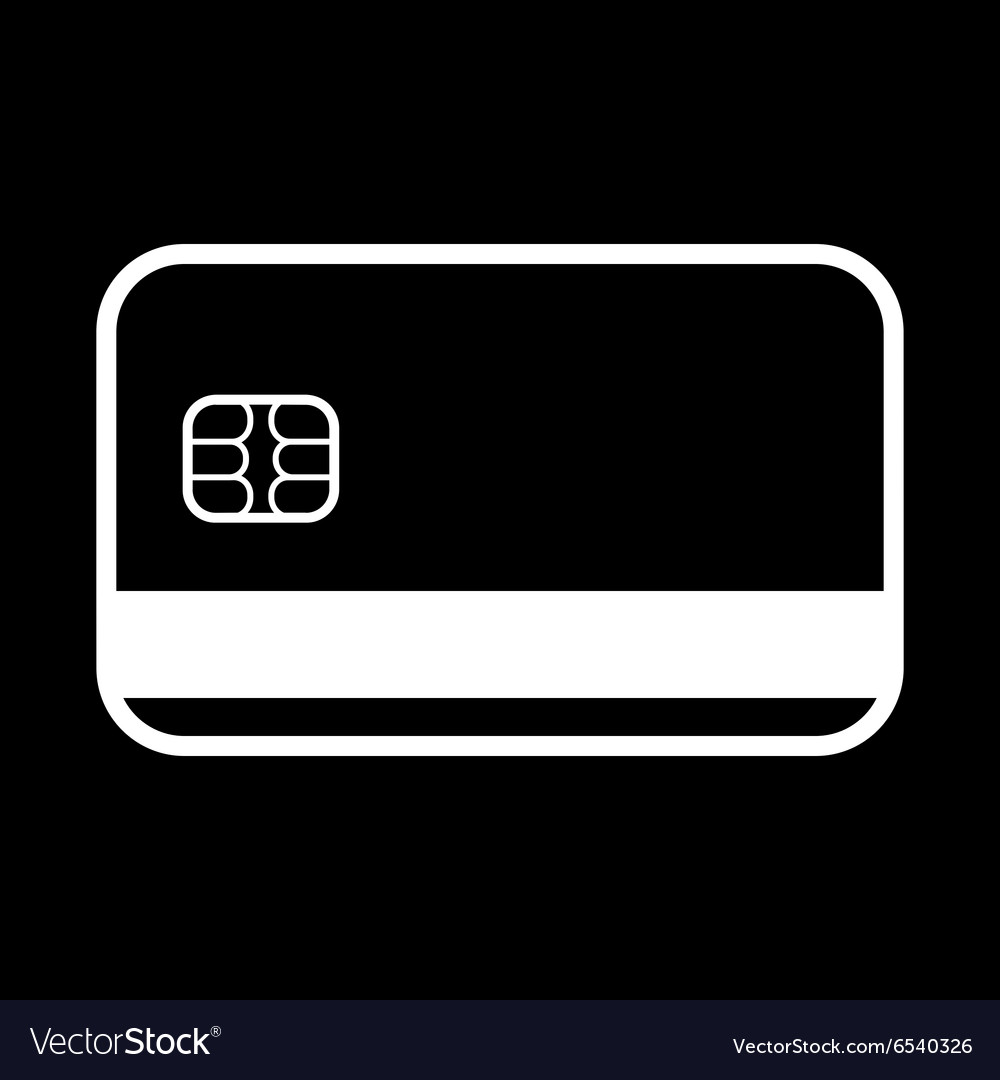 Credit card icon bank card symbol vector