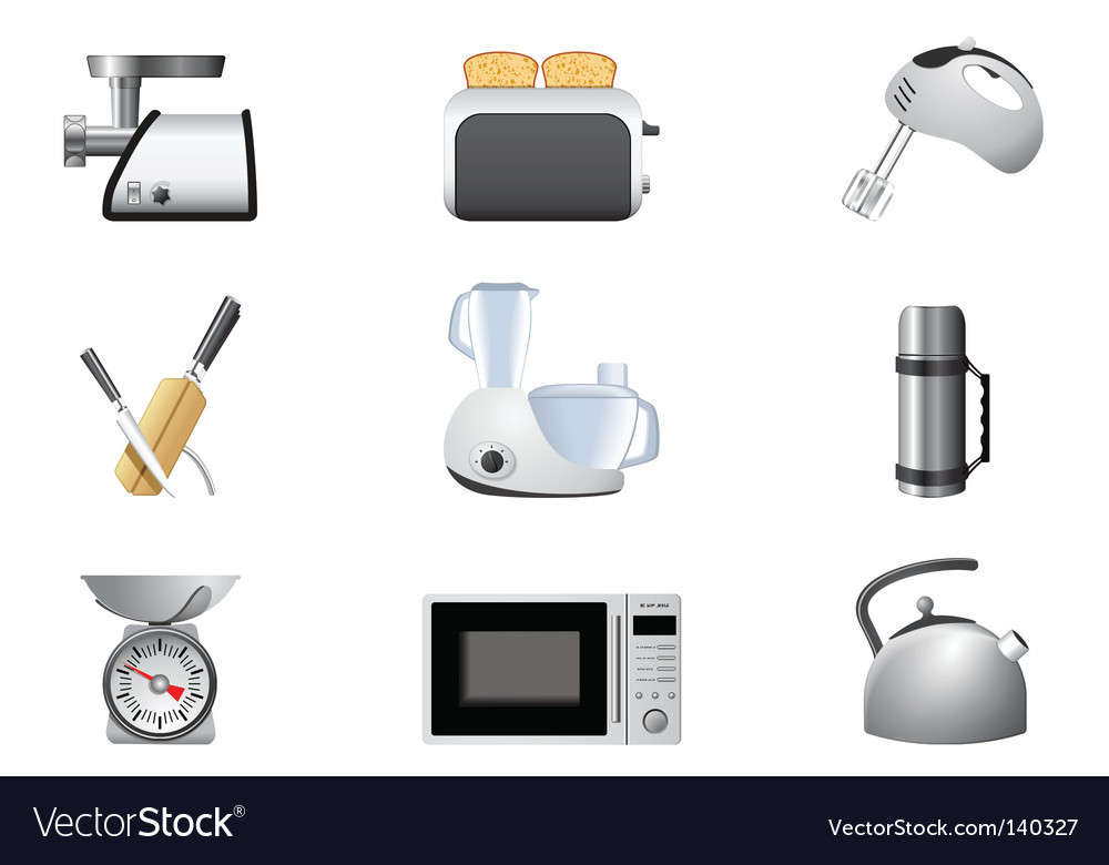 Household appliances kitchen vector