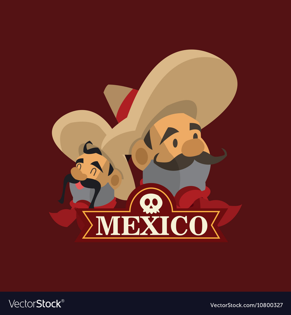 Mexican culture related icons image vector