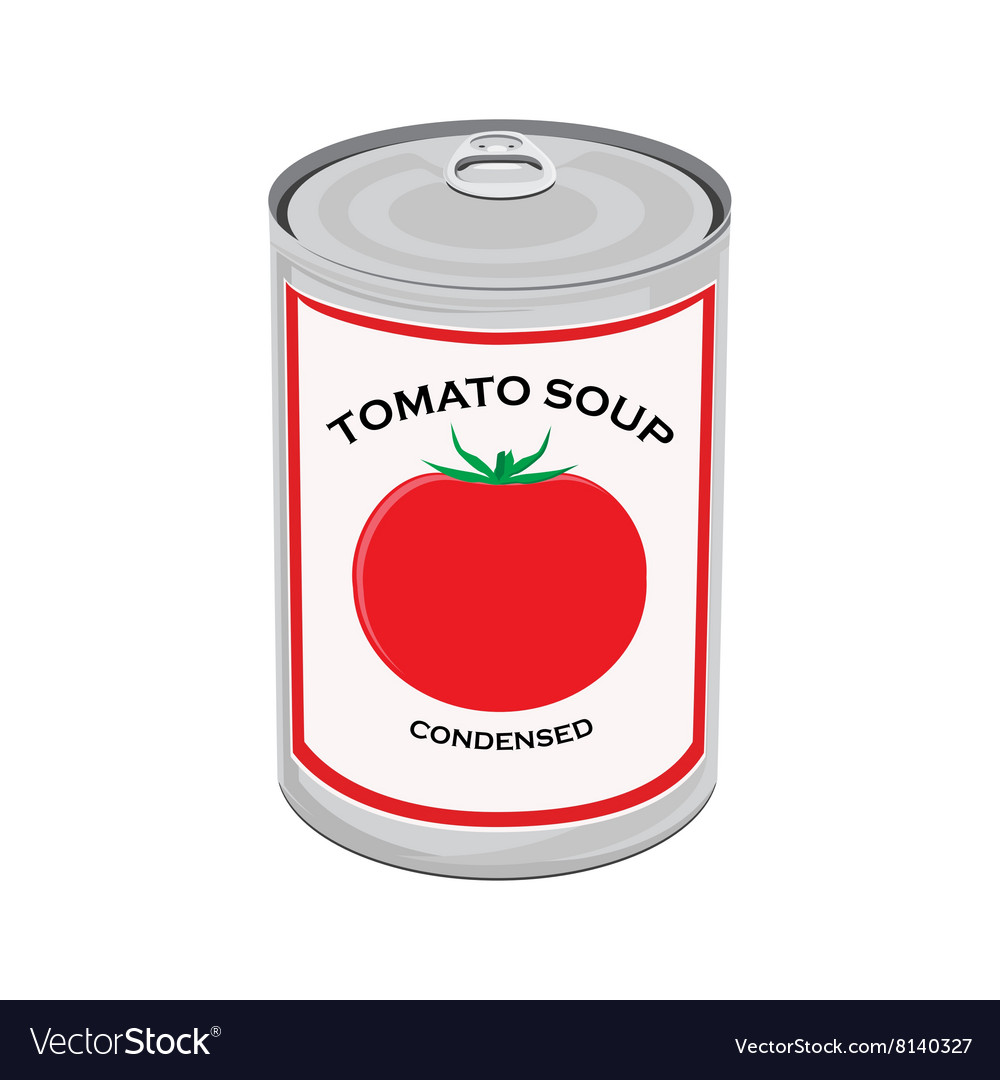Tomato soup can vector