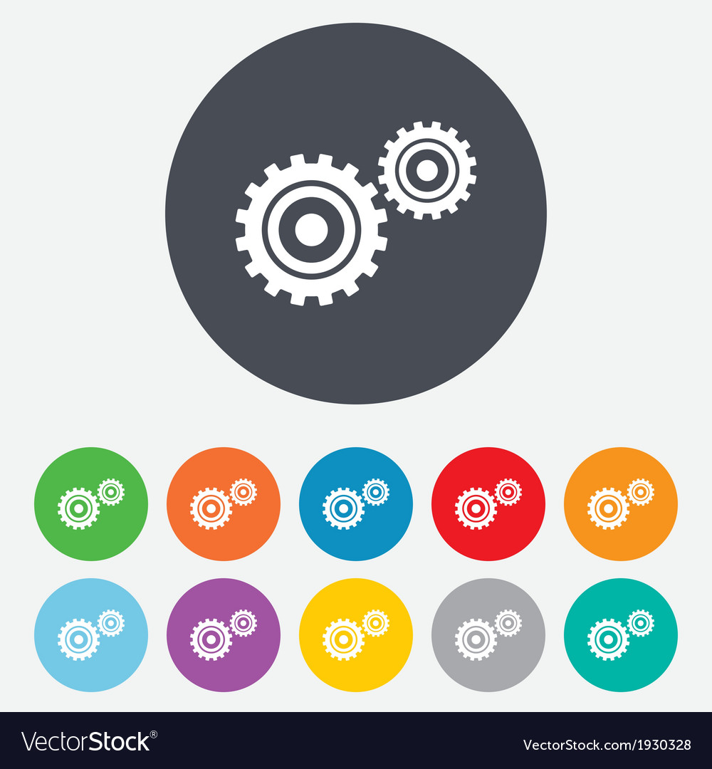 Cog settings sign icon cogwheel gear symbol vector