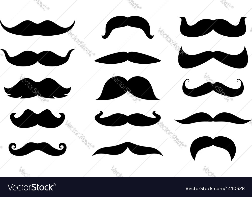 Man moustaches vector