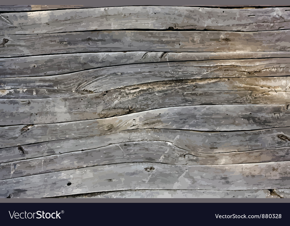 Wooden wall vector