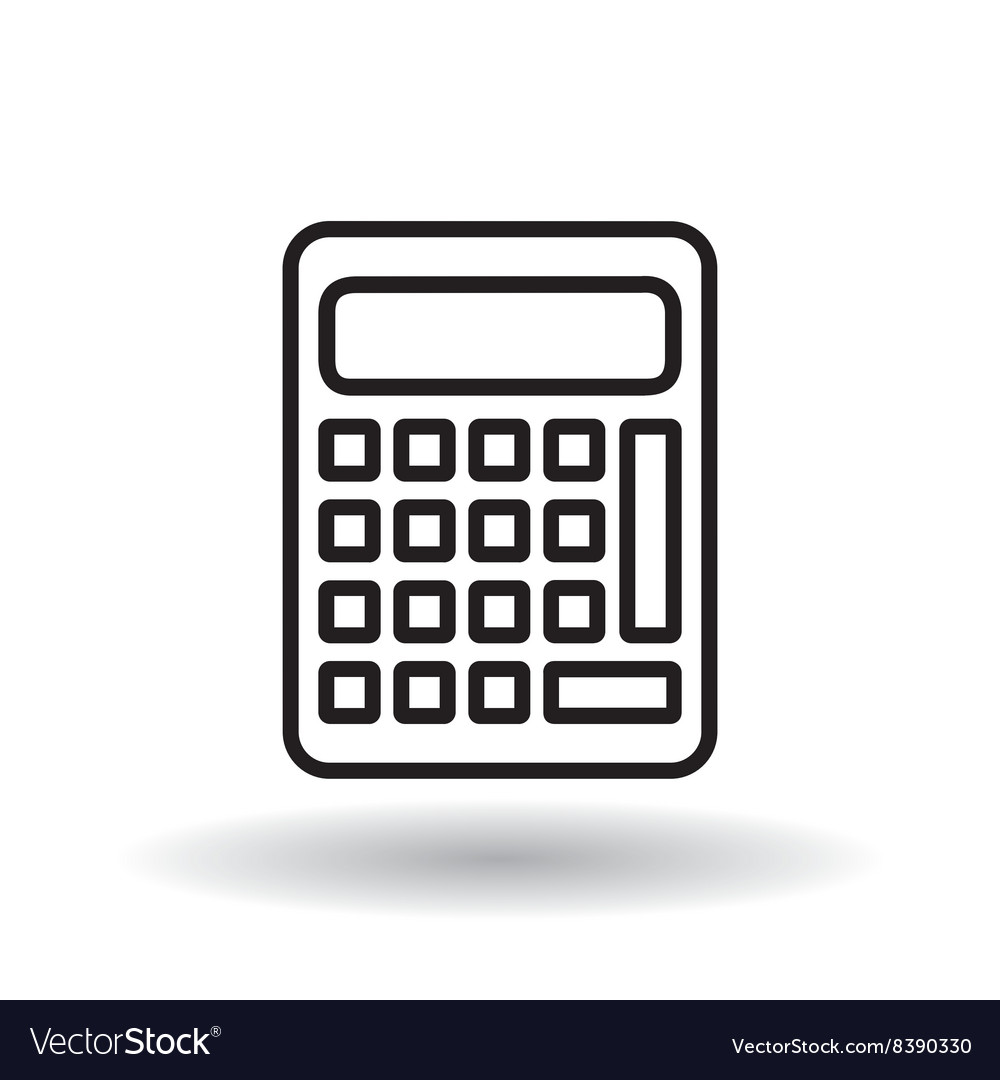 Calculator icon design vector