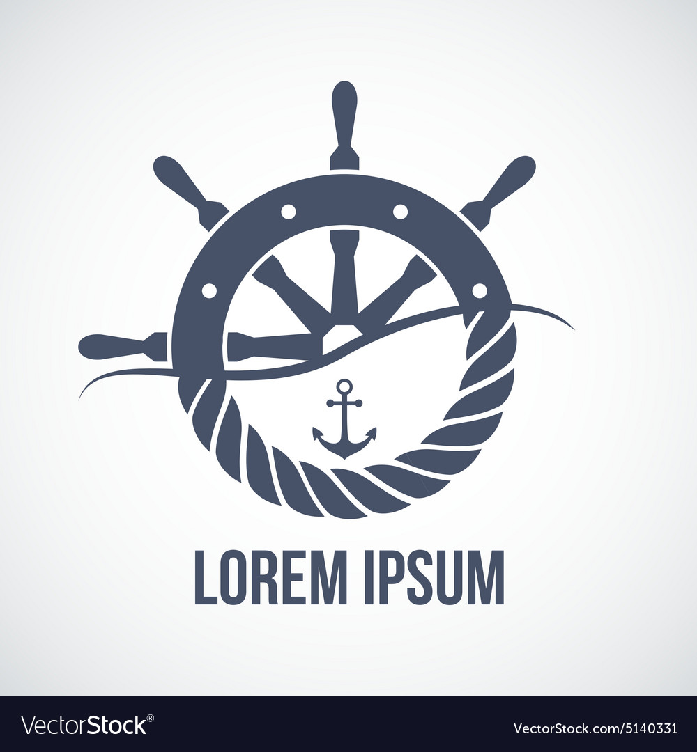 Nautical yacht logotype vector