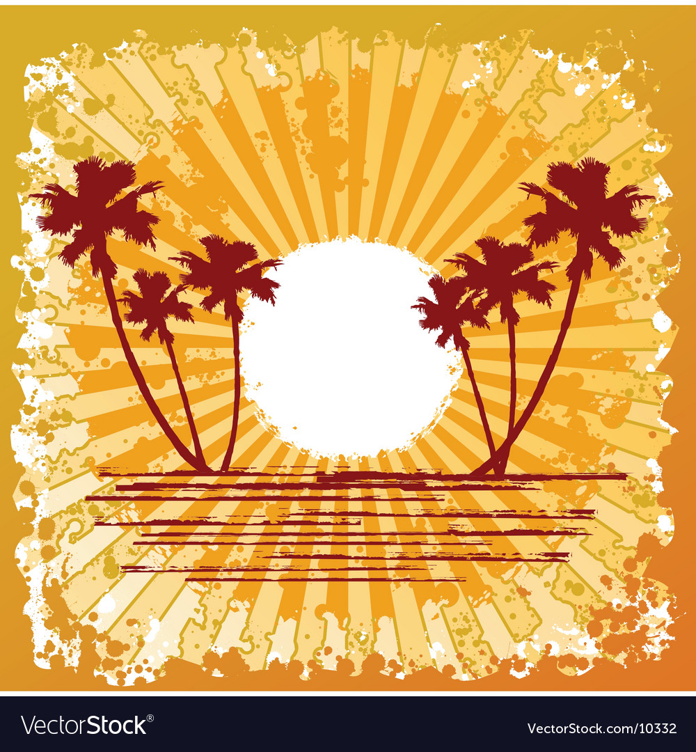 Ocean beach design vector