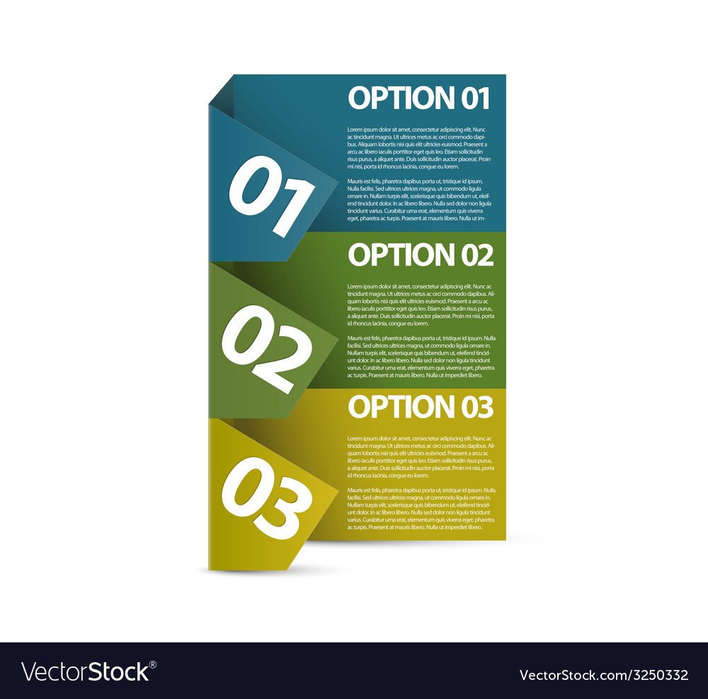 One two three  paper options vector