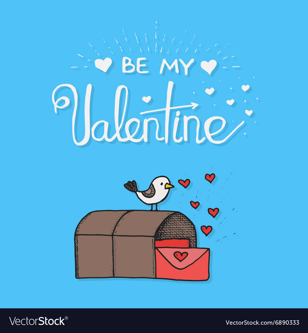 Bird mail cartoon cute in vector