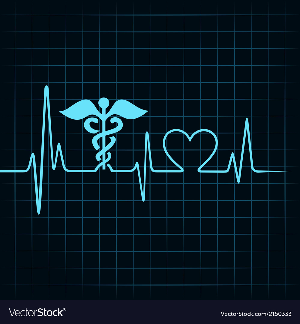 Heartbeat make medical and heart symbol vector
