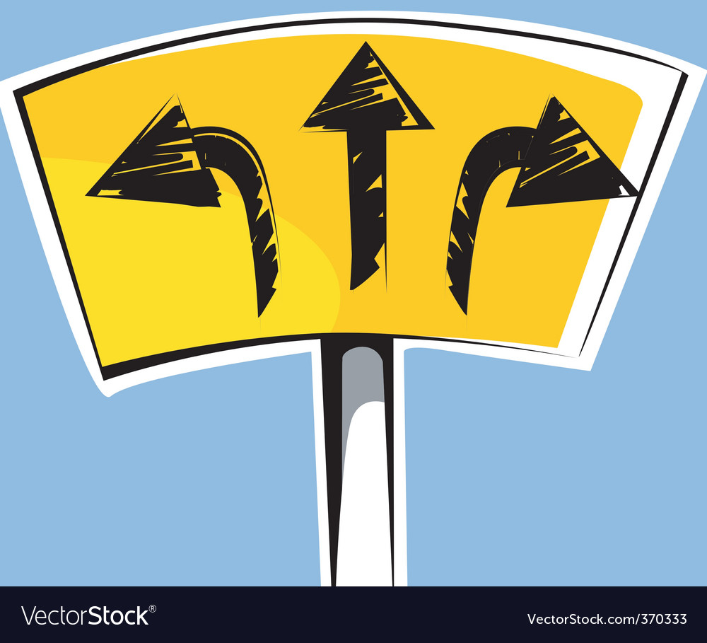 Sign board vector