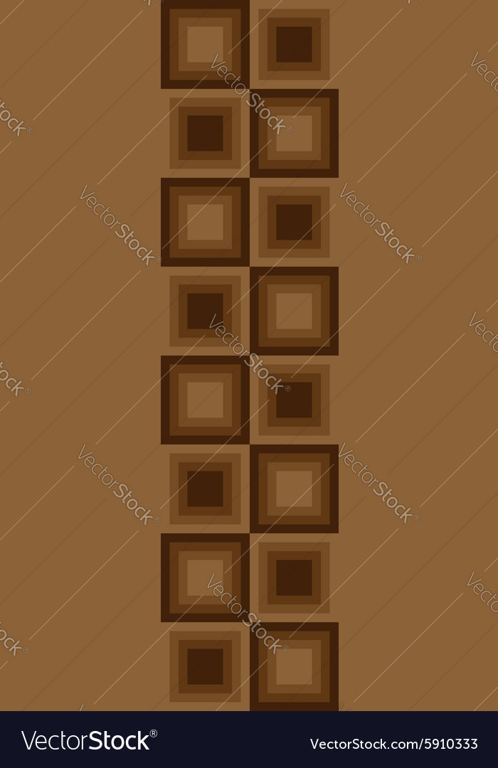 Squares seamless floor pattern brown colors vector