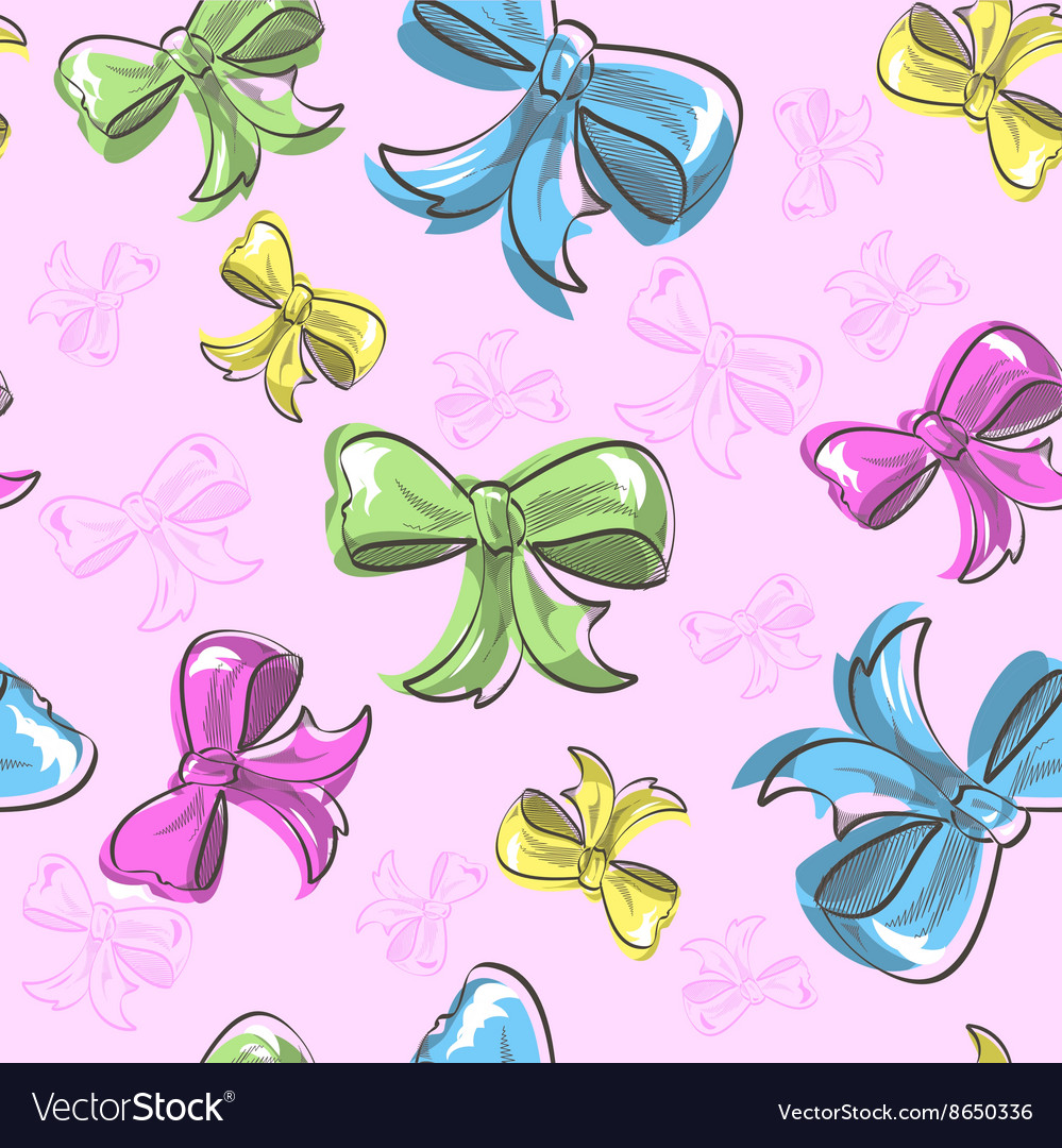 Bow seamless background vector