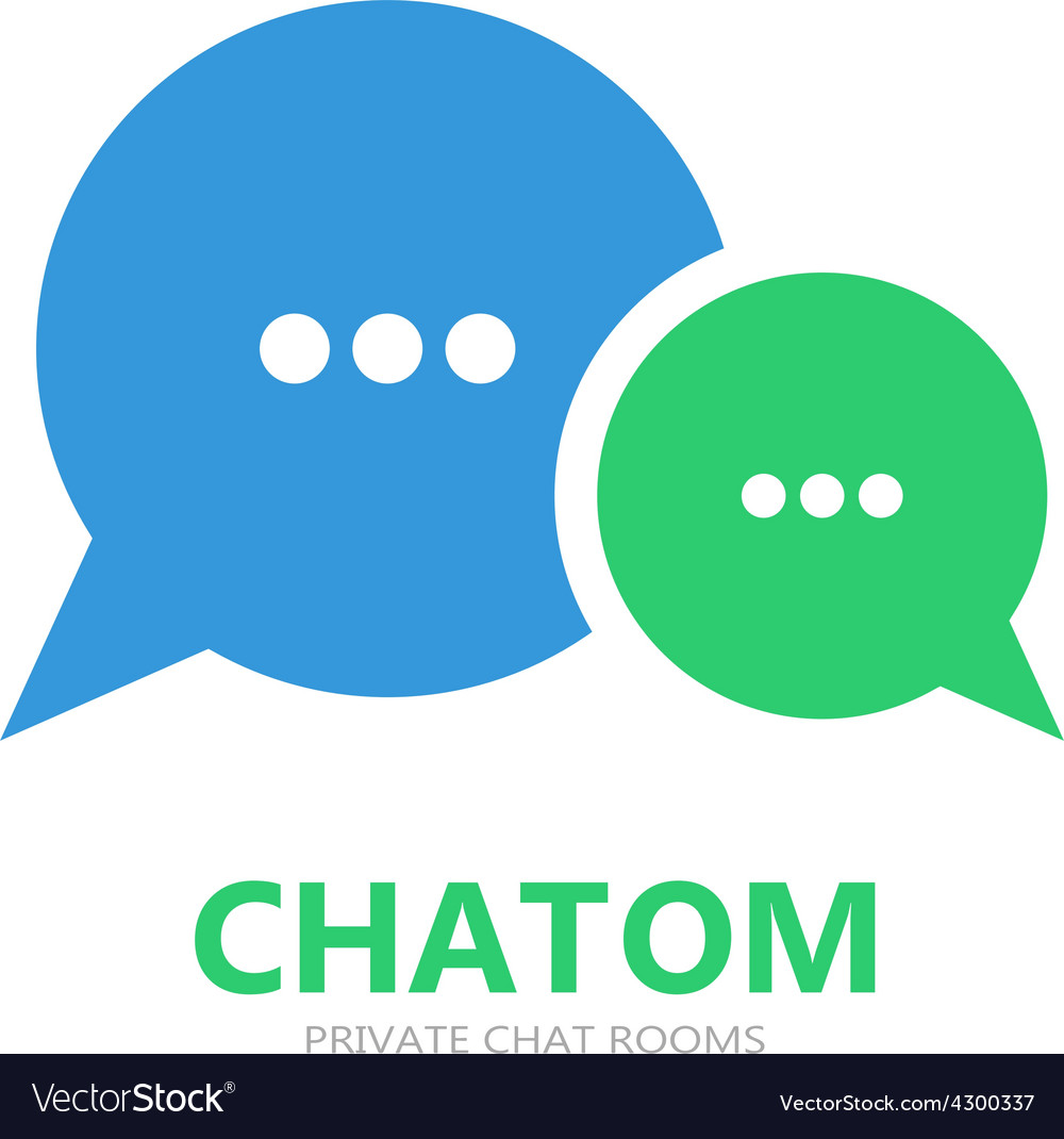 Chat logo vector