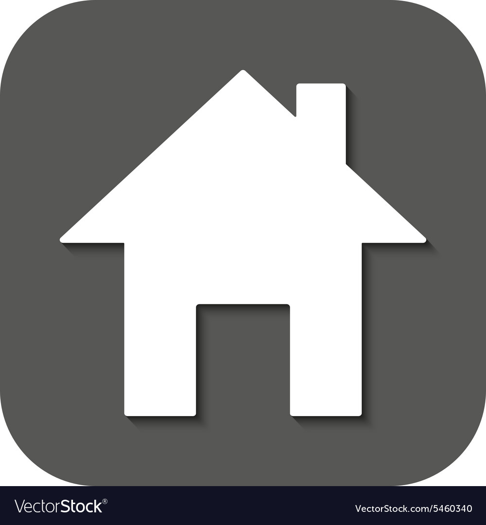 Home icon house symbol flat vector