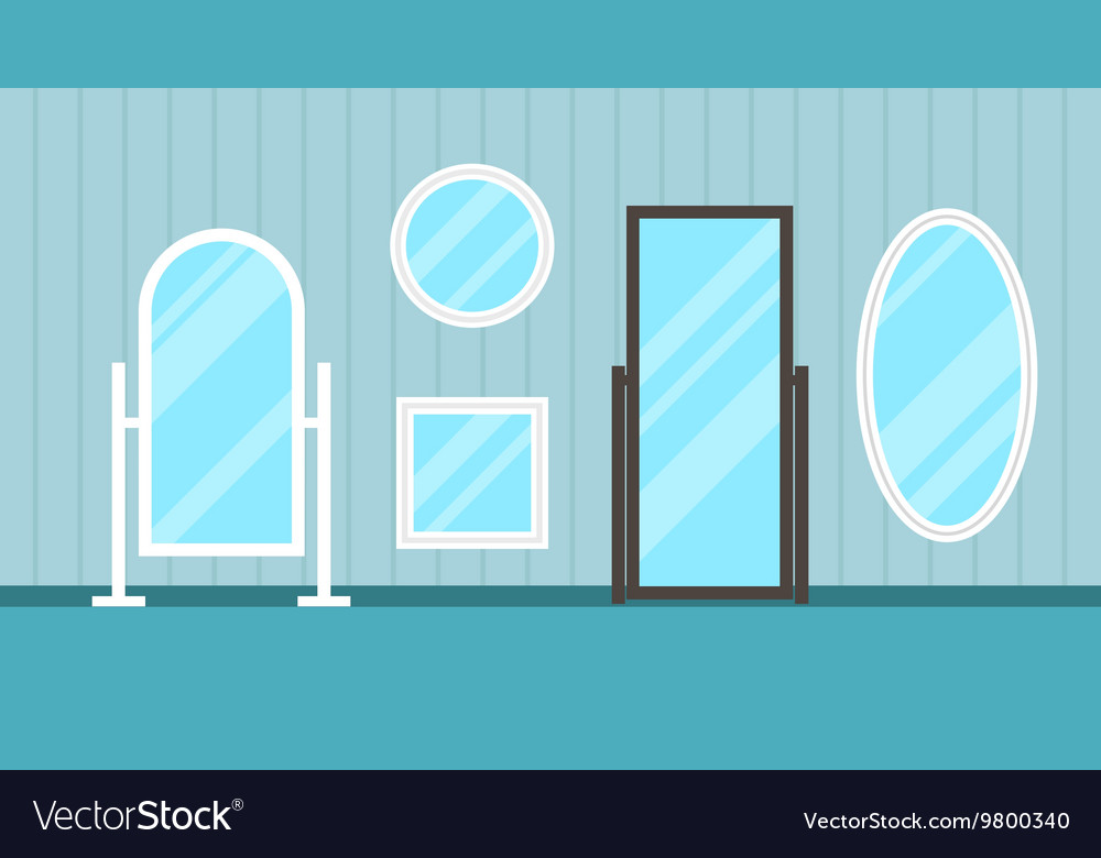 Set of flat mirrors vector