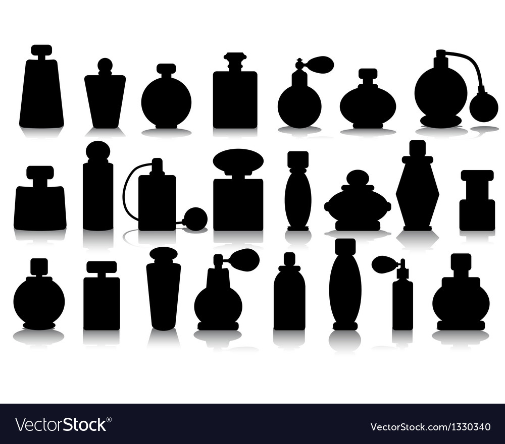 Silhouettes of perfume vector