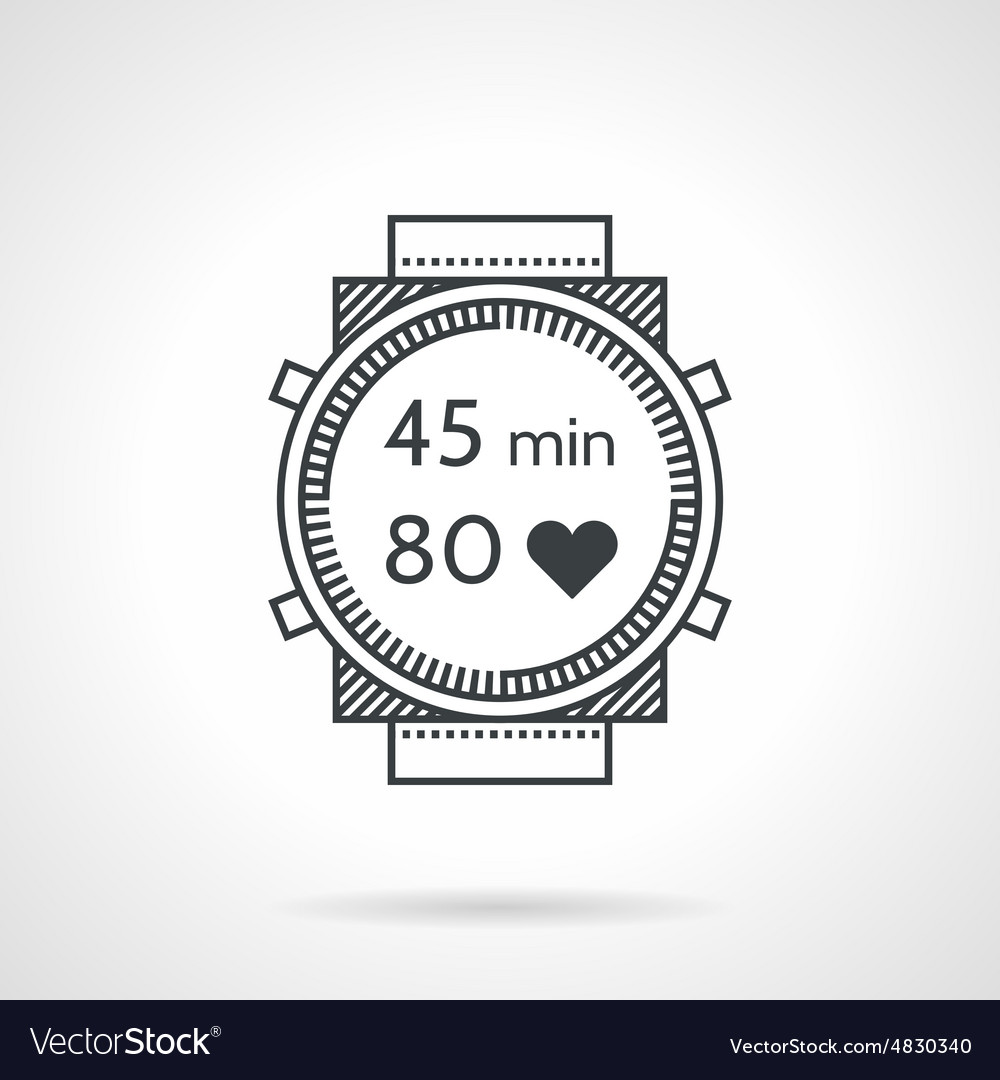Water sport watch black line icon vector