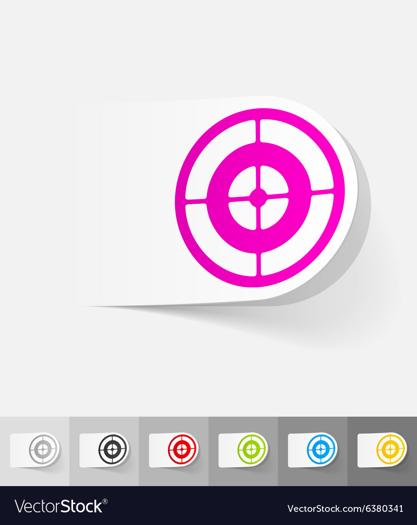 Realistic design element target vector