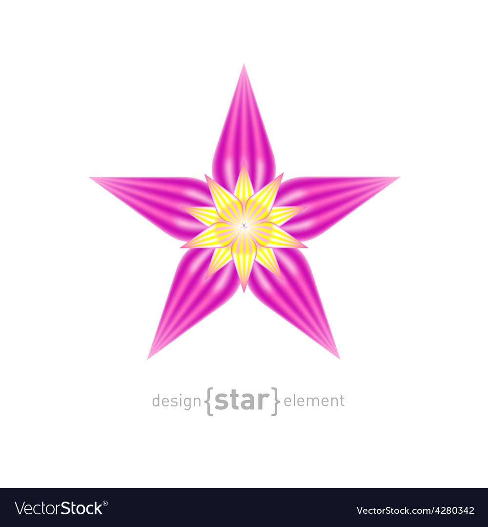 Beautiful flower design element vector