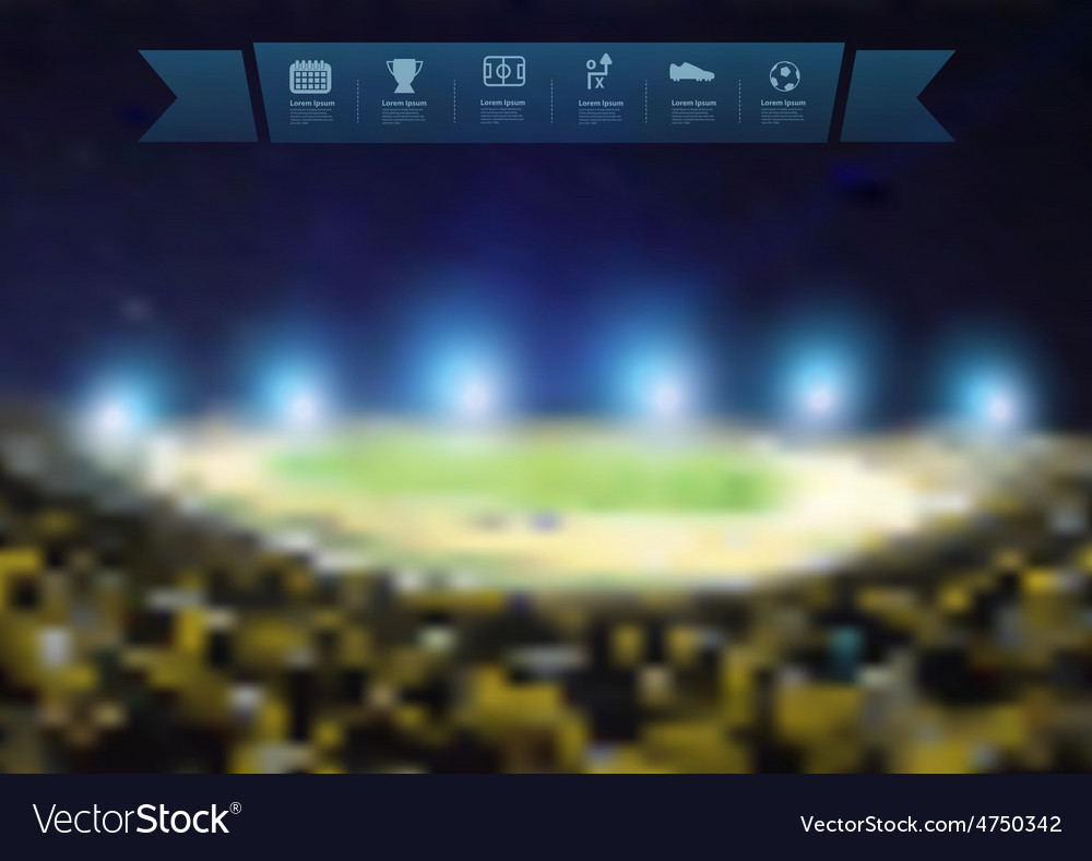 Blurred lights at night and stadium vector