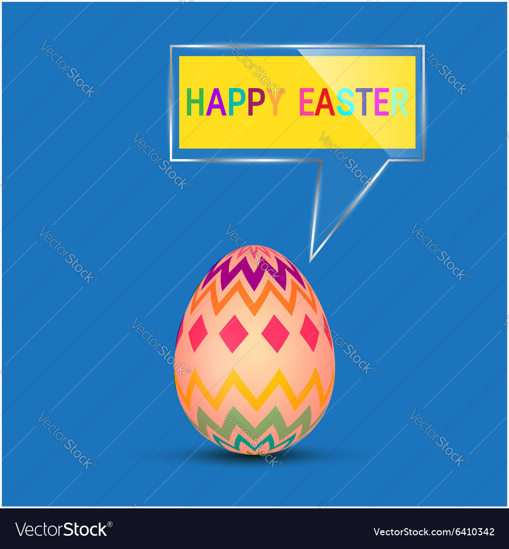 Happy easter egg vector