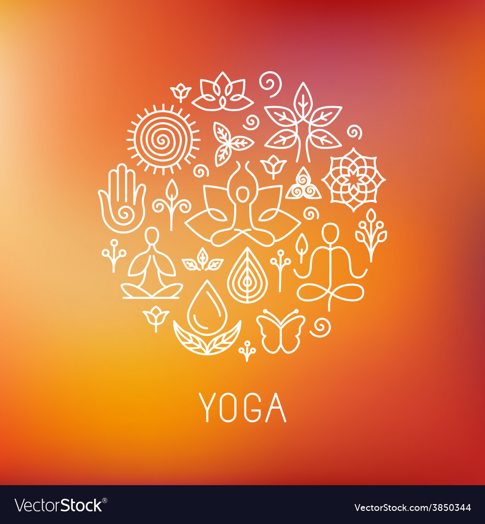 Yoga logo vector