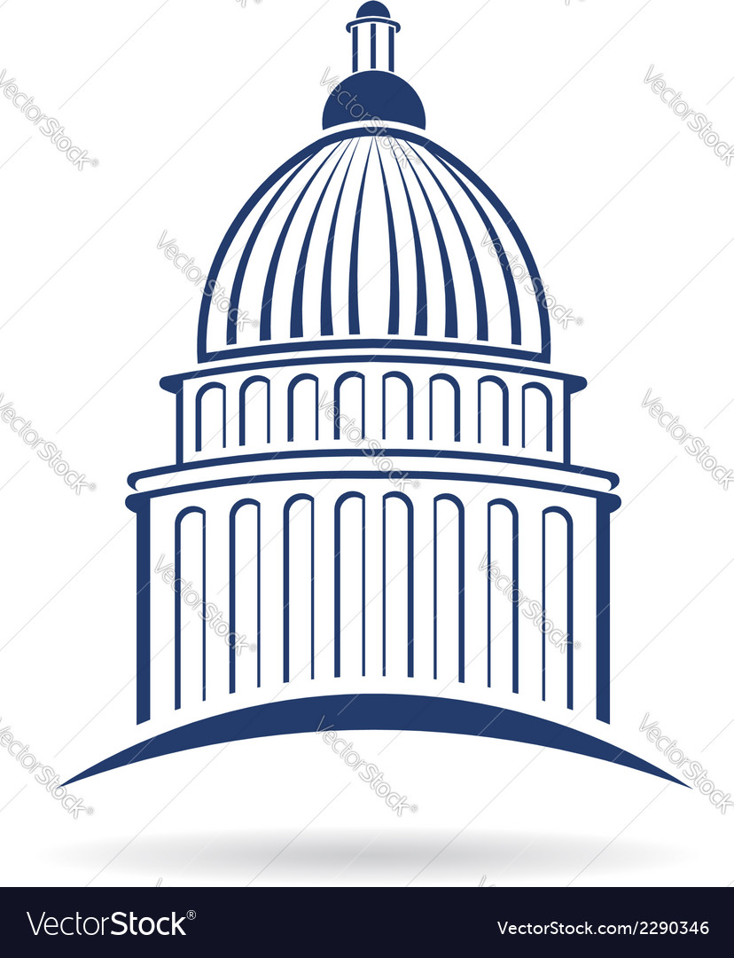 Capitol building icon vector