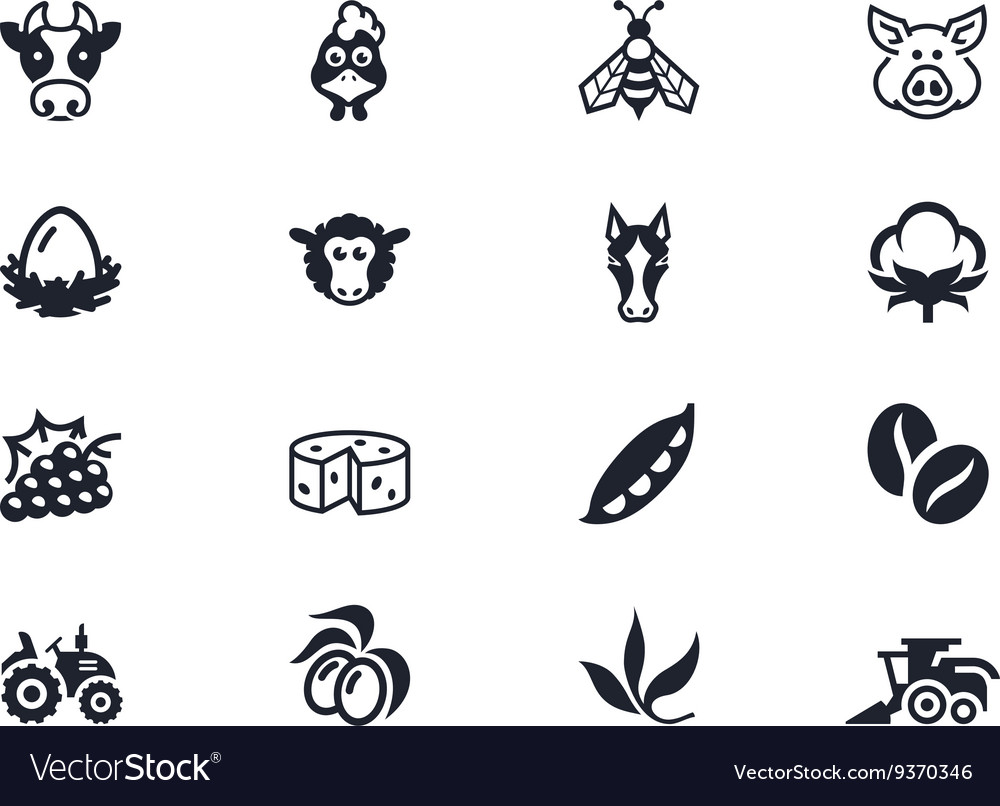 Farm icons 2 lyra series vector