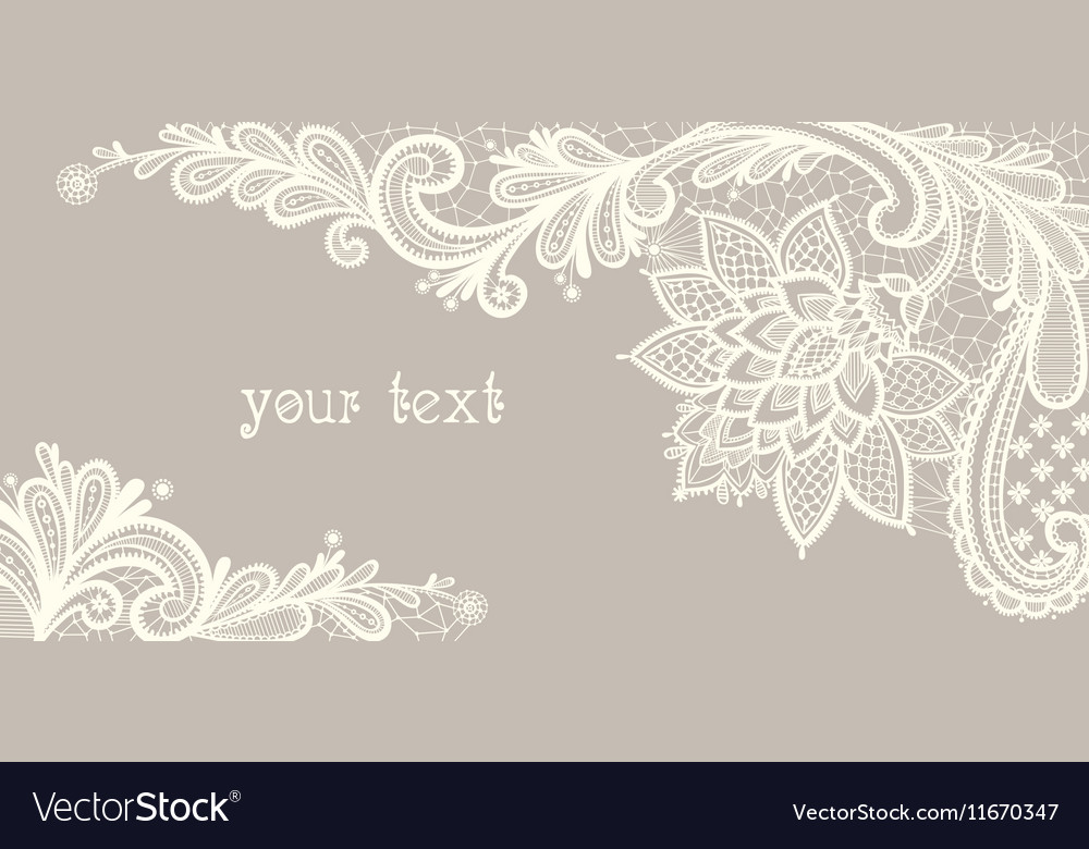 Card with a white lace vector