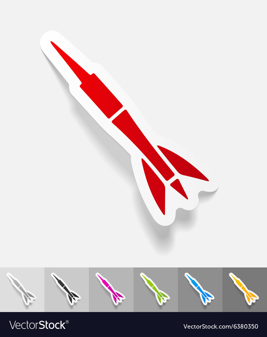 Realistic design element dart vector