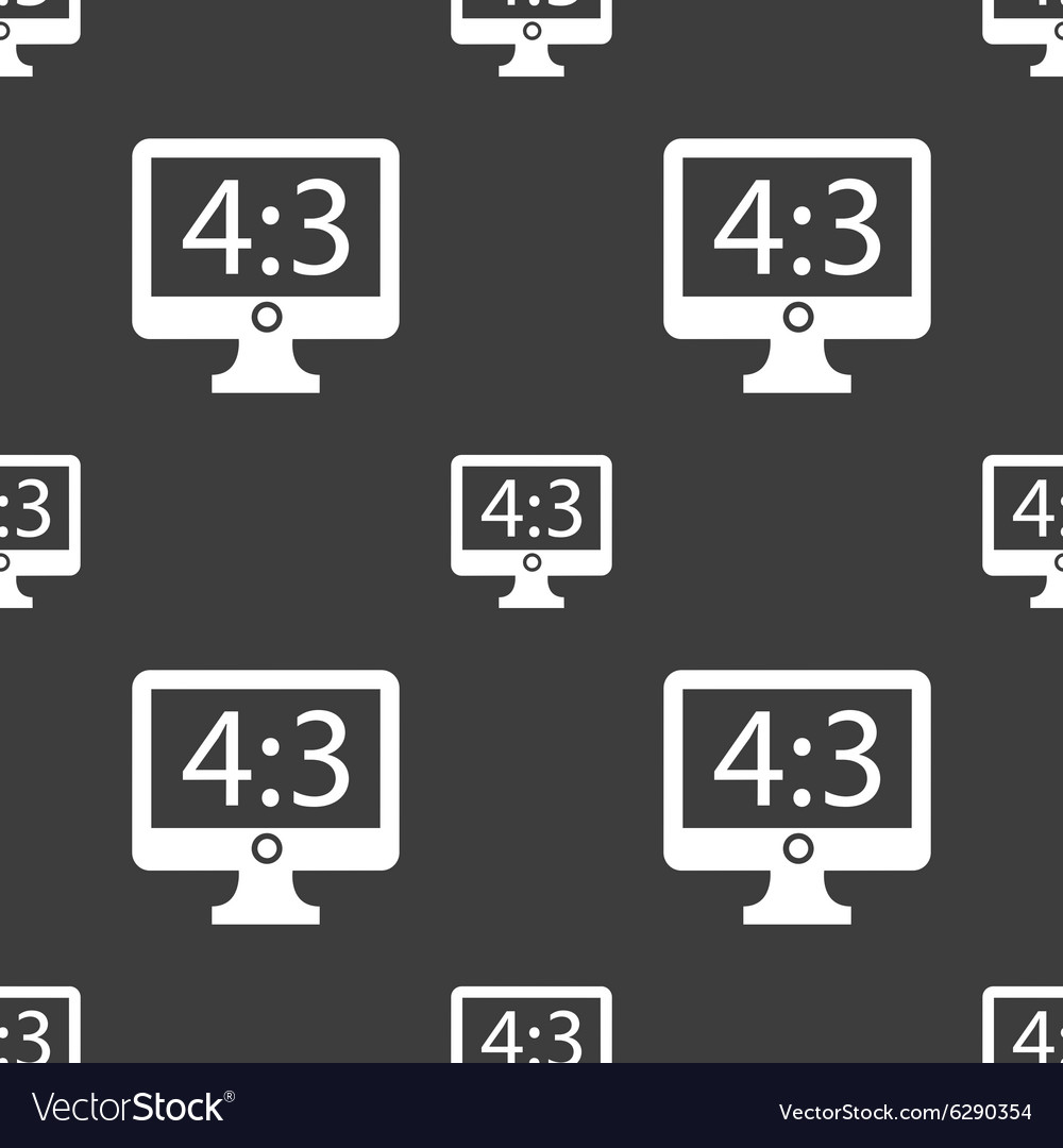 Aspect ratio 4 3 widescreen tv icon sign seamless vector