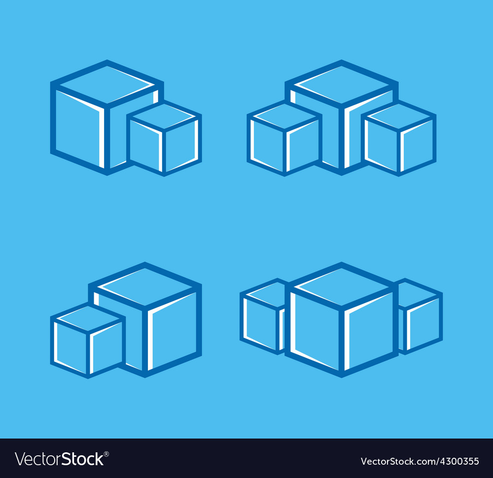 Ice cube logo or symbol icon vector