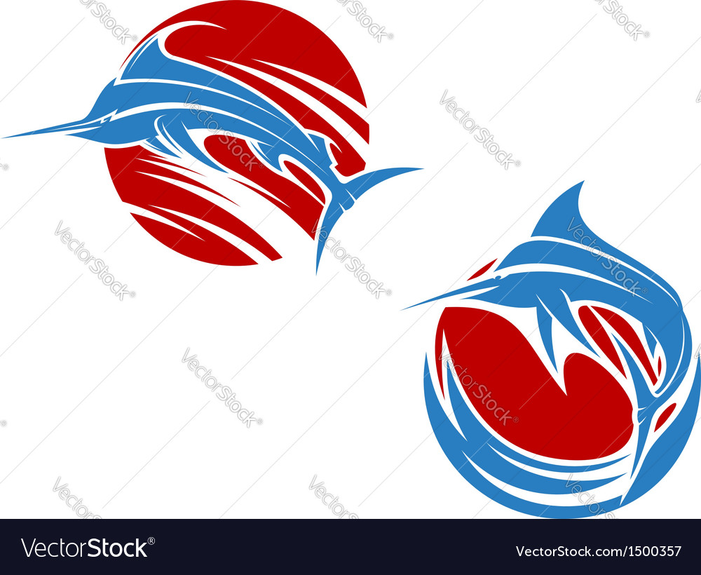 Blue marlin fish vector