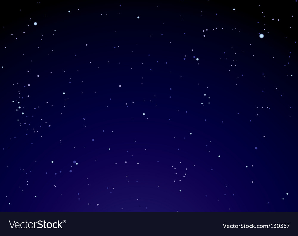 Night sky with star clouds vector