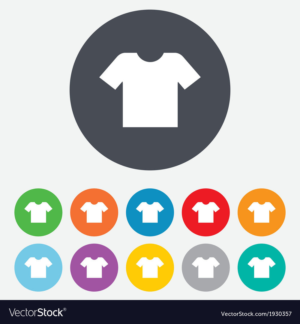 Tshirt sign icon clothes symbol vector
