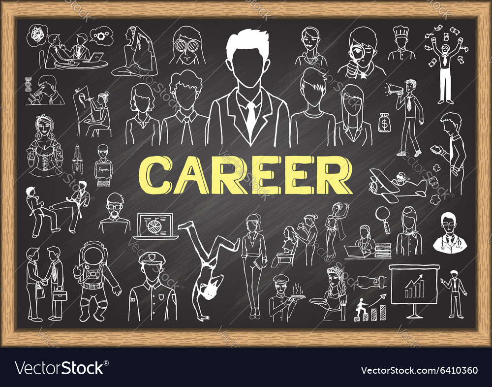 Career on chalkboard vector