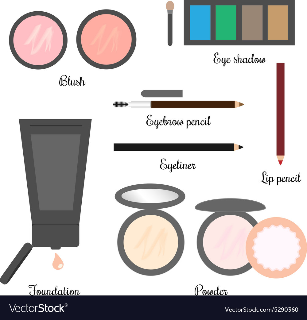 Cosmetics set for a makeup 2 vector