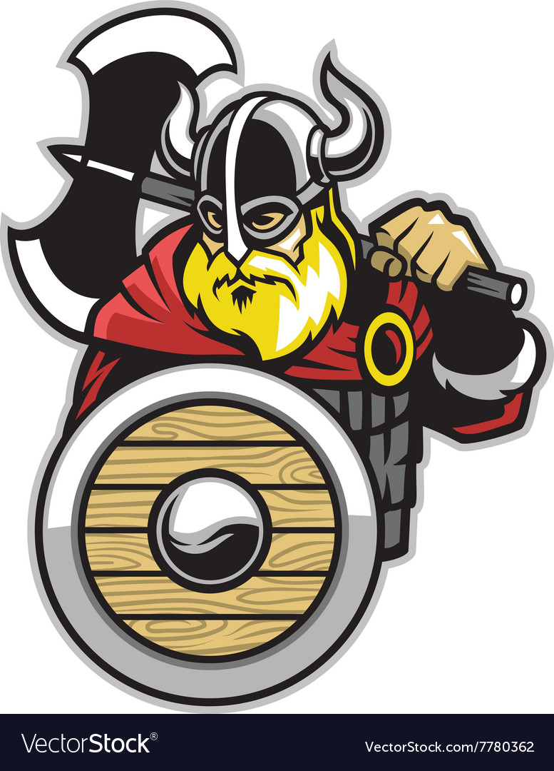 Viking mascot vector
