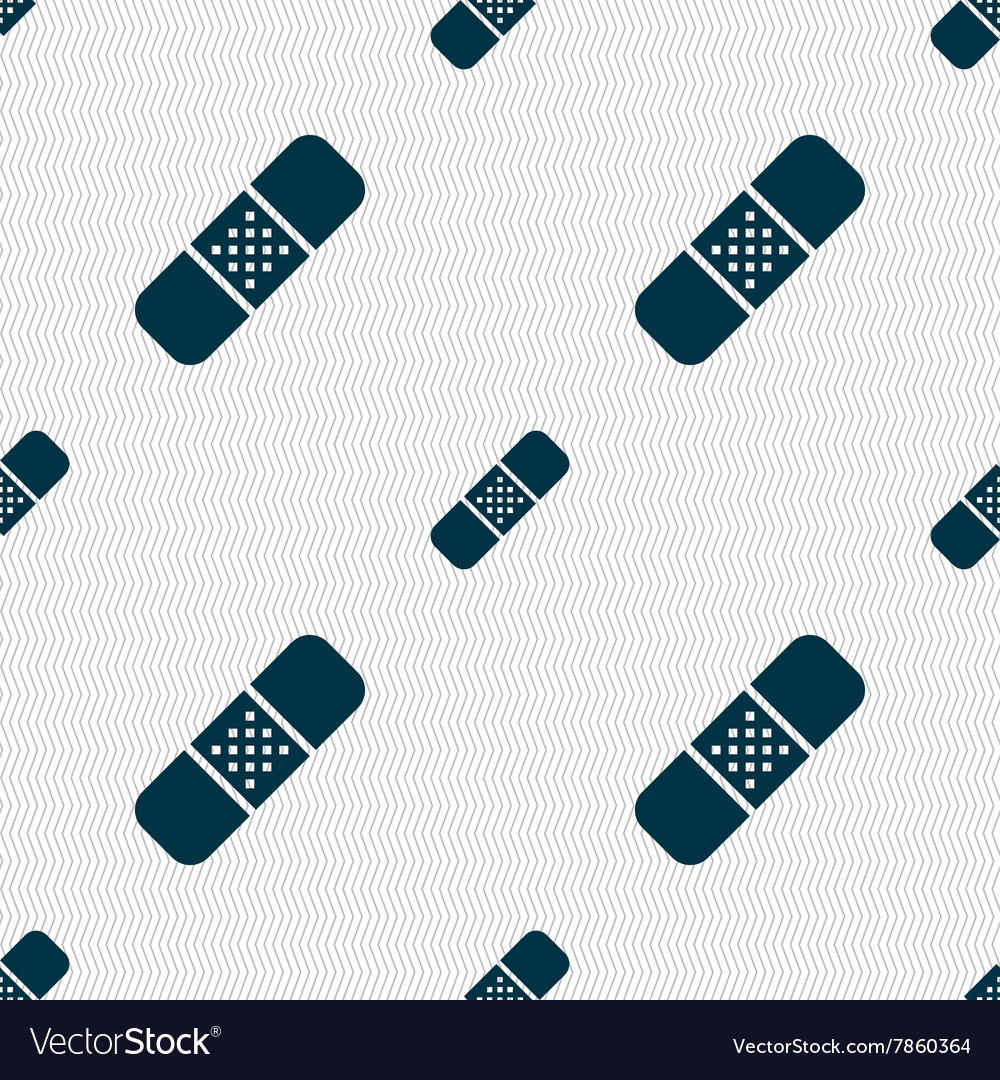 Plaster icon sign seamless pattern with geometric vector