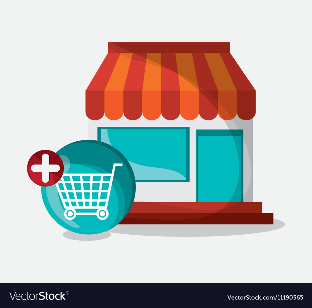 Store and digital marketing design vector