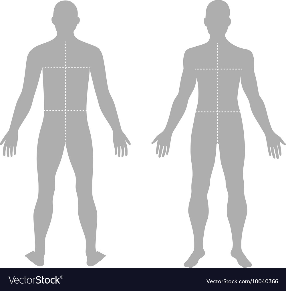 Fashion mans solid template figure vector