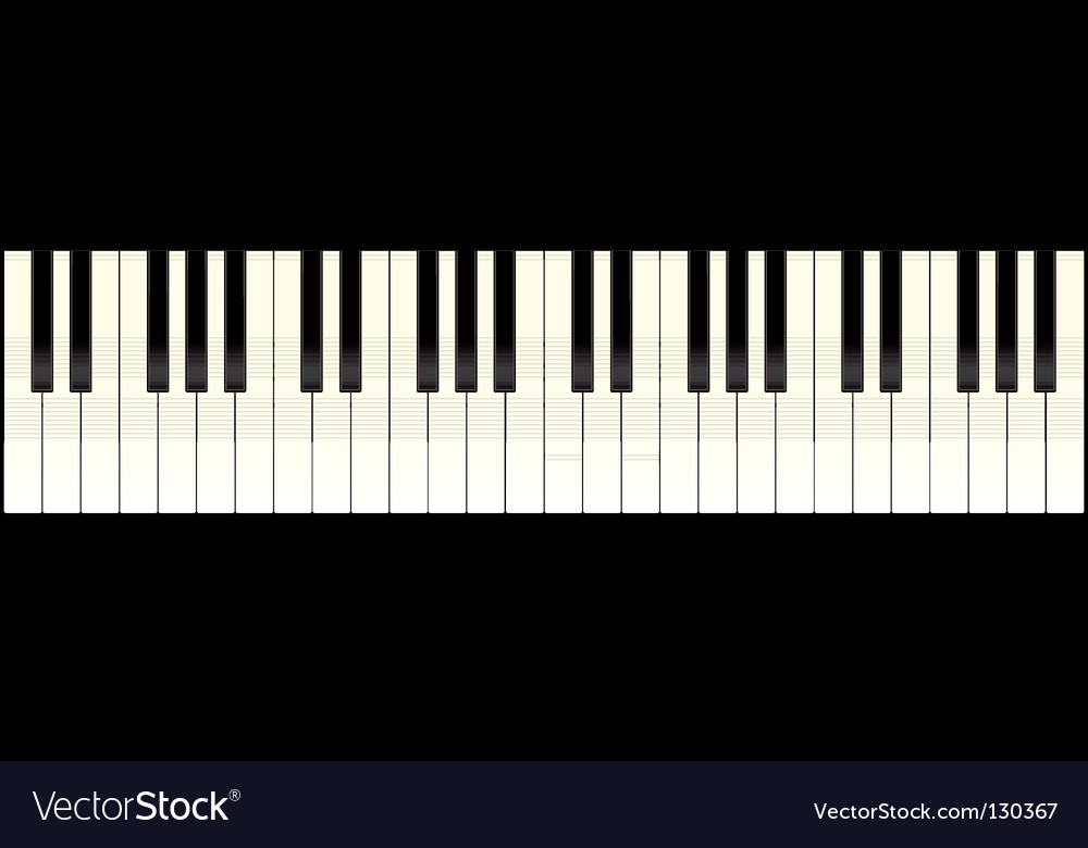 Piano keyboard long vector
