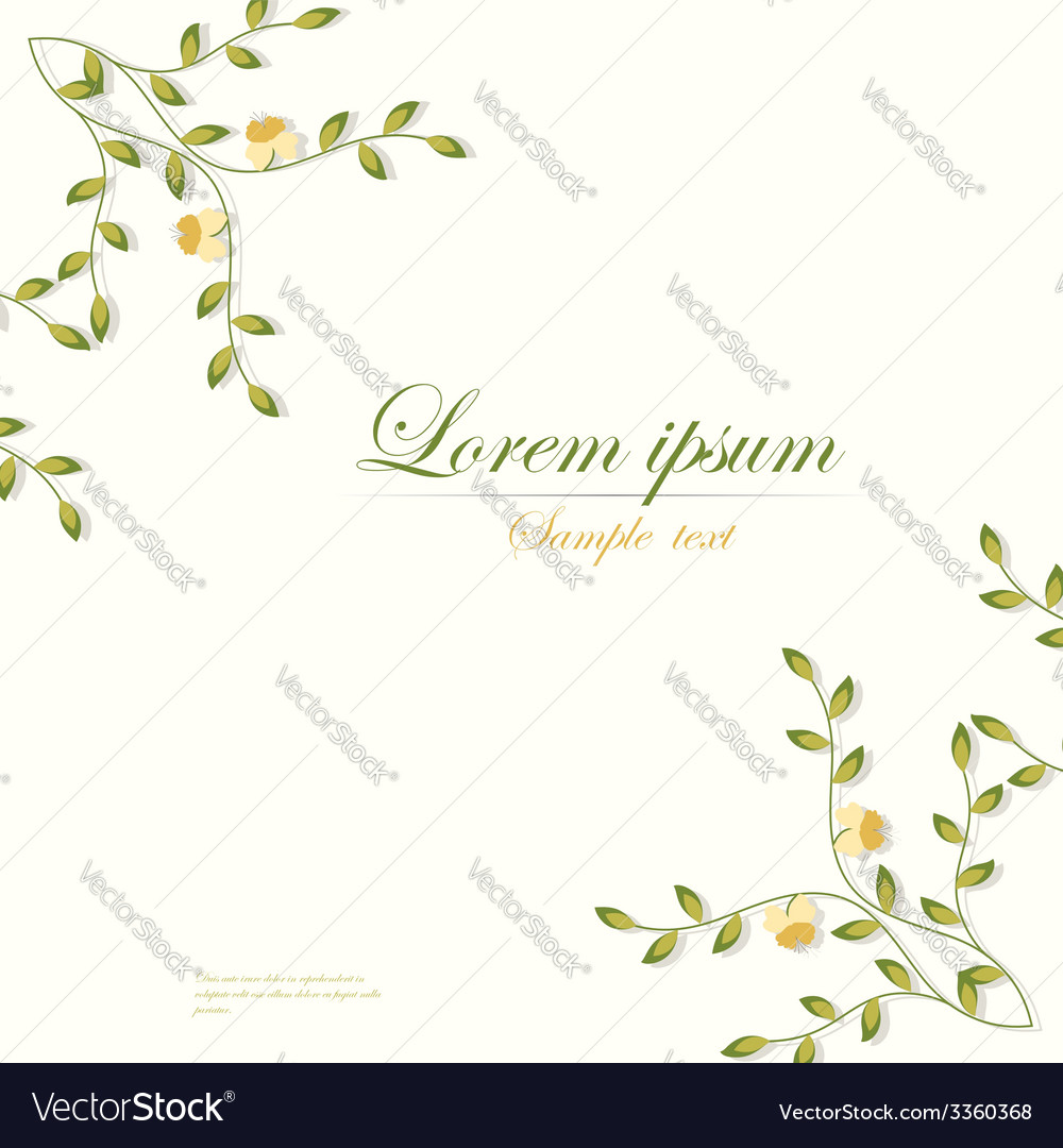 Template for folder business card and invitation vector