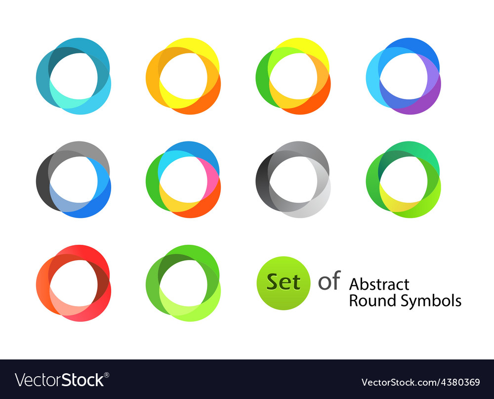 Abstract round symbols vector