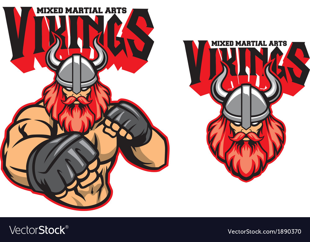 Mma fighter viking vector