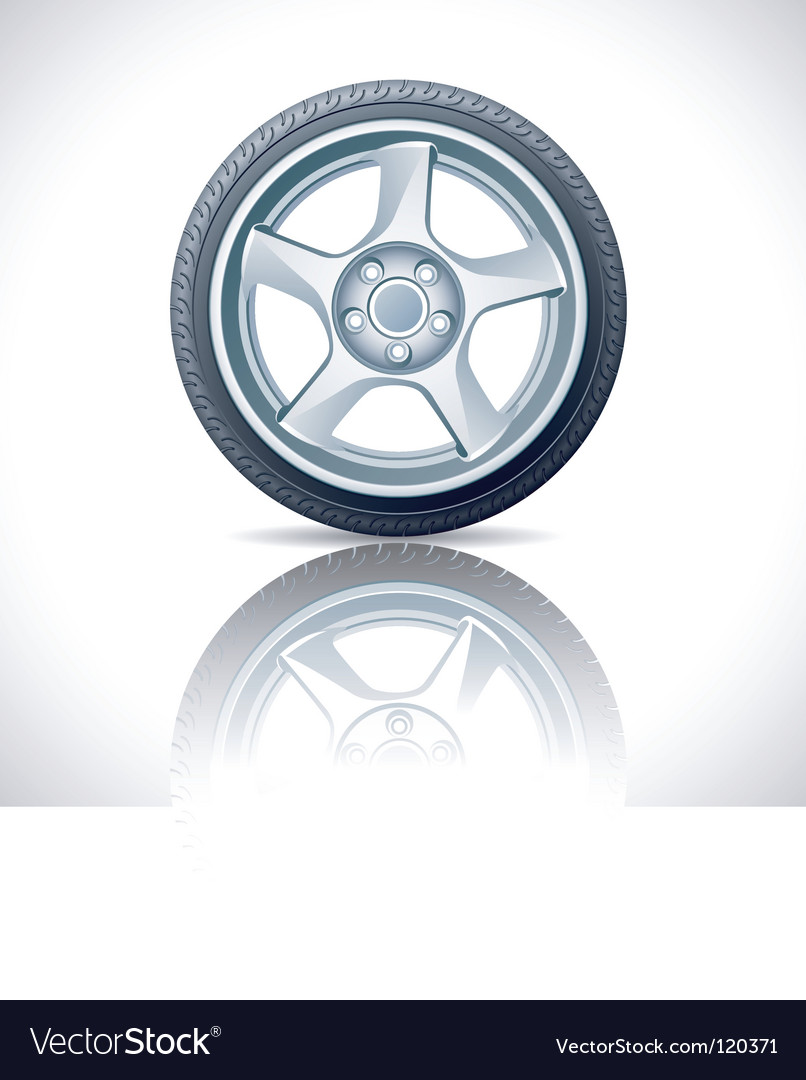 Alloy wheel vector