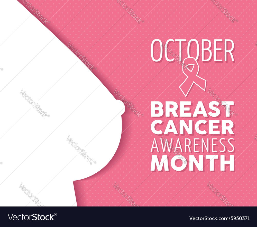 Breast cancer awareness poster woman silhouette vector